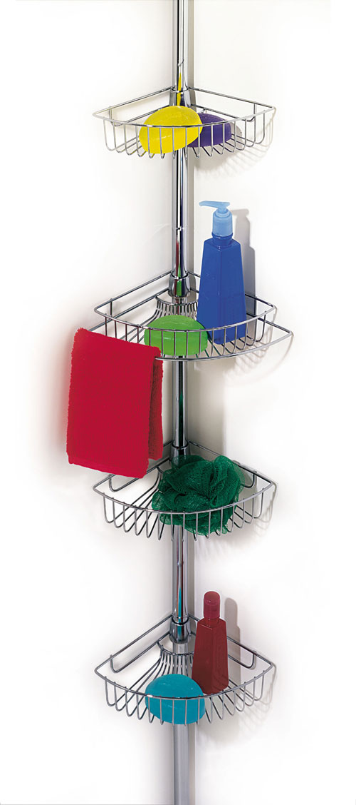 Attractive Shower Rod Caddy Picture Collection - Luxurious Bathtub ...