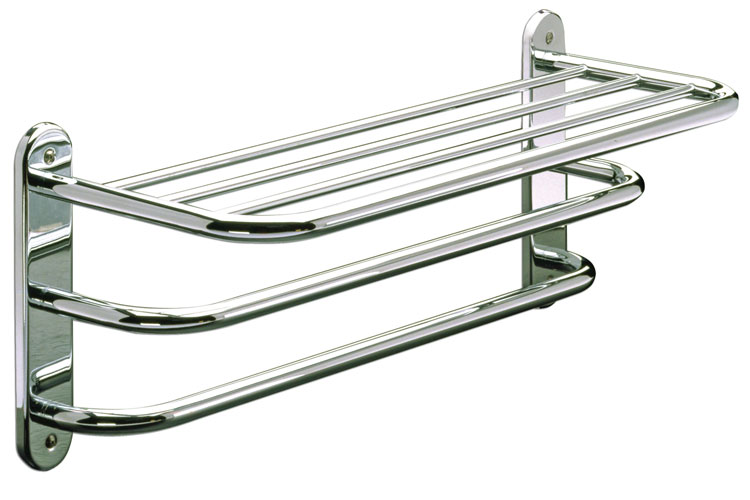Hotel Towel Shelf with double towel bar 24\