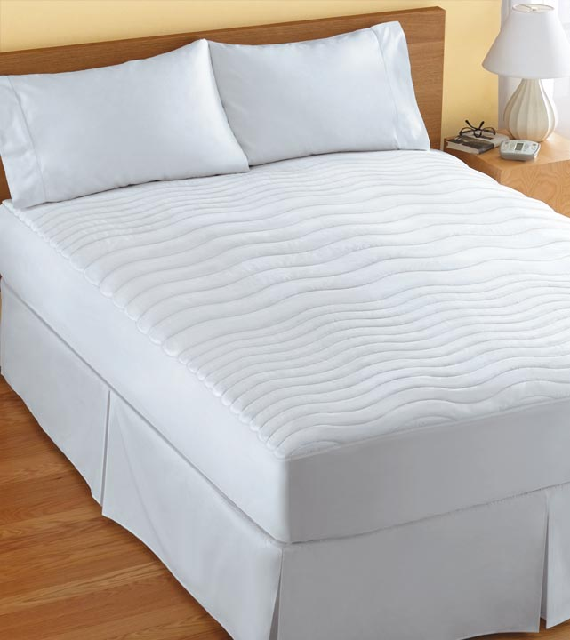 large ca heated home pad amazon waterproof sunbeam mattress x polyester quilted dp twin