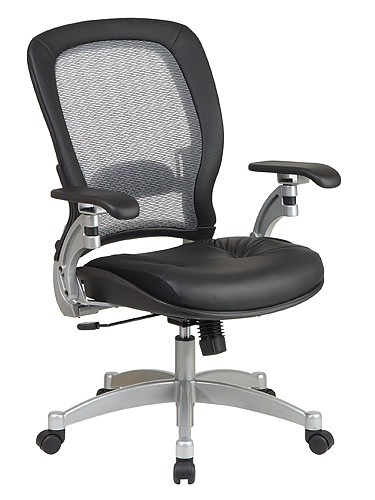 Office Star 3680 Air Grid Leather Chair