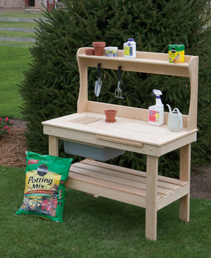 Cypress Potting Table