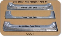 Door Skins, Rear Passenger's, Lwr. Cross-Cut ~ 1 ea.