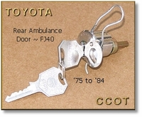 Lock & Key - Rear Ambl. Door, FJ40  ~ 1/'75 to '84 ~ TOYOTA