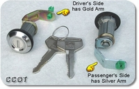 Lock & Key Set ~ Frt Doors - 2ea-   FJ/BJ/40/45 ~ 1/75-'84 ~ Aft Mrkt
