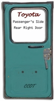 "Weatherstrip - Passengr's Rear Ambulance Door - 75-12/'78 - ""TOYOTA"""
