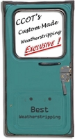 "Weatherstrip -  Passengr's Rear Ambulance Door - 75-84 -  ""BEST"""