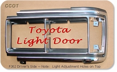 Light Door Chrome - FJ62 Driver's - '88- '90 - TOYOTA