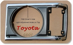 Light Door Chrome -  FJ60 Driver's - '81- '87 - TOYOTA