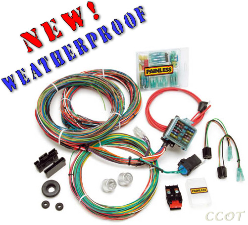 Complete Wiring Harness Kit on spark plug covers, fan covers, wiring cable covers,