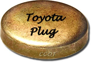 "Freeze Plug - Block -  50mm or 1.96"" - 2F  - TOYOTA"
