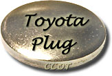 "Freeze Plug - Block -  24mm or .94"" -  Silver - 2F  - TOYOTA"