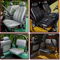 Seat Cover - Set of 4 - Fronts & Rears - FJ40 - Oscar - FREE Hog Rings