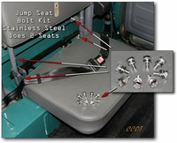 Jump Seat Bolt Kit - Stainless Steel