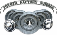Wheels - Set of 5 ea -  BJ & FJ40,45,55 - '63 to 8/80 - Gray - TOYOTA