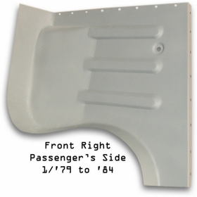 Floor Pan - Front - Passenger's / RT - CCOT's -  '79 to '84