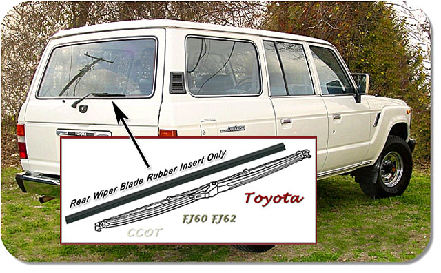Wiper Rear Hatch - Insert Only - FJ60/62 - 8/80-1/90 - TOYOTA