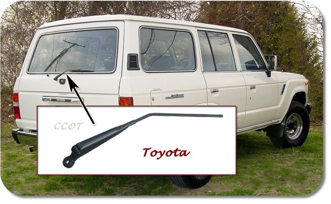 Wiper Arm - Rear Hatch - 1ea - FJ60/62 - 8/80-1/90 - TOYOTA