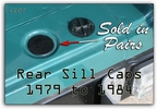 Sil Caps Lower Rear Header Caps - Pair - '79 - '84 - Aft Mrkt