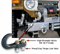 Hook - Front Bumper - J40 - High-Strength Hook & Bolt Kit
