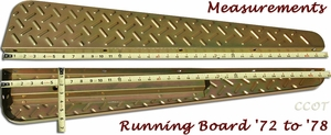 Running Board Measurements - '72 to '78