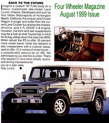 Pic / Info...Retro Cruiser, Four Wheeler Magazine