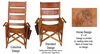 Costa Rica Rocking Chair - High Back - Green Leather and Caobilla Wood