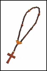 """Virgin of the Angels Wood Rosary - 13"""""""