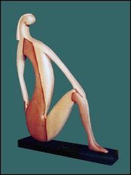 "Wood Sculpture ""Graceful Woman"""