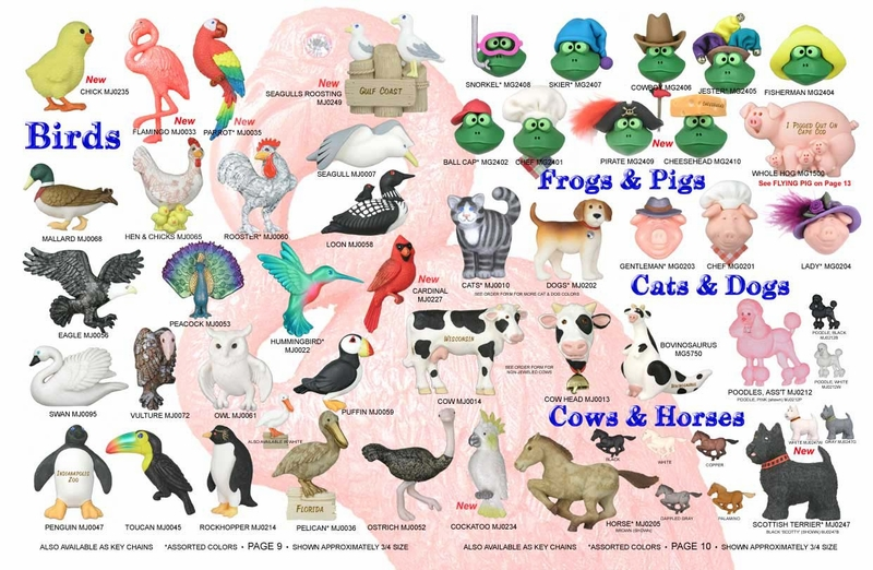 Birds, Frogs & Pigs, Cats & Dogs, Cows & Horses