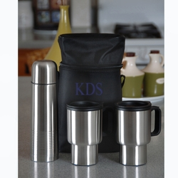 Stainless Steel Travel Mug Set with a Thermos