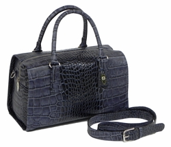 J. Lang Dr. Bag Blue Crocodile Leather