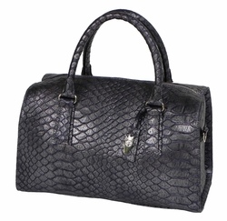 J. Lang Dr. Bag Purple Crocodile Leather