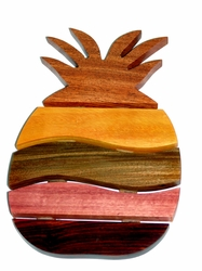 Costa Rica Pineapple Trivet - Mixed Woods