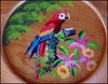 Hand Painted Wood Dish - 10.5""