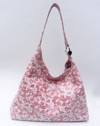 J. Lang Andrea Hobo Red & White Leather