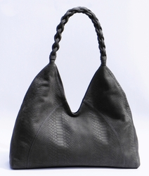 J. Lang Joy Hobo Grey Snake Leather