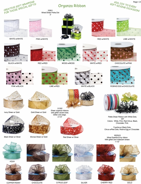 Sheer Organza Wired Ribbon