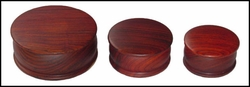 Set - Round Wood Boxes