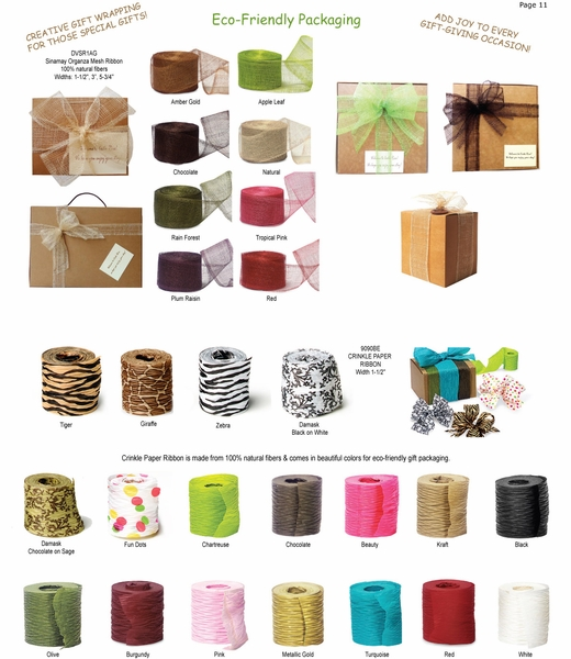 Sinamay Mesh and Crinkle Paper Ribbon