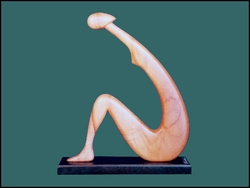 "Wood Sculpture ""Woman Resting"""