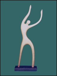 "Wood Sculpture ""Tropical Dancer"""