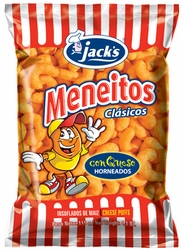 Jacks Meneitos Classic Cheese Puffs Chips Costa Rica