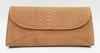 J. Lang Curve Clutch Taupe Snake Leather