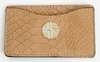 J. Lang Card Holder Taupe Snake Leather
