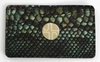 J. Lang Card Holder Green Snake Leather