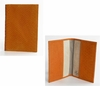 J. Lang Passport Holder Orange Snake Leather