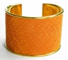 J. Lang Cuff Bracelet Orange Snake Leather