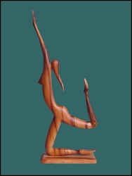 "Wood Sculpture ""Ballet Dancer"""
