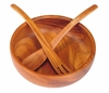 Wood Bowl - Fork & Spoon