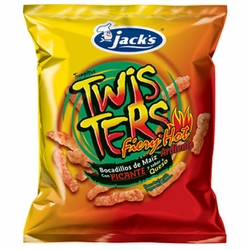 Jacks Twisters Fiery Hot Cheese Curls Chips Costa Rica